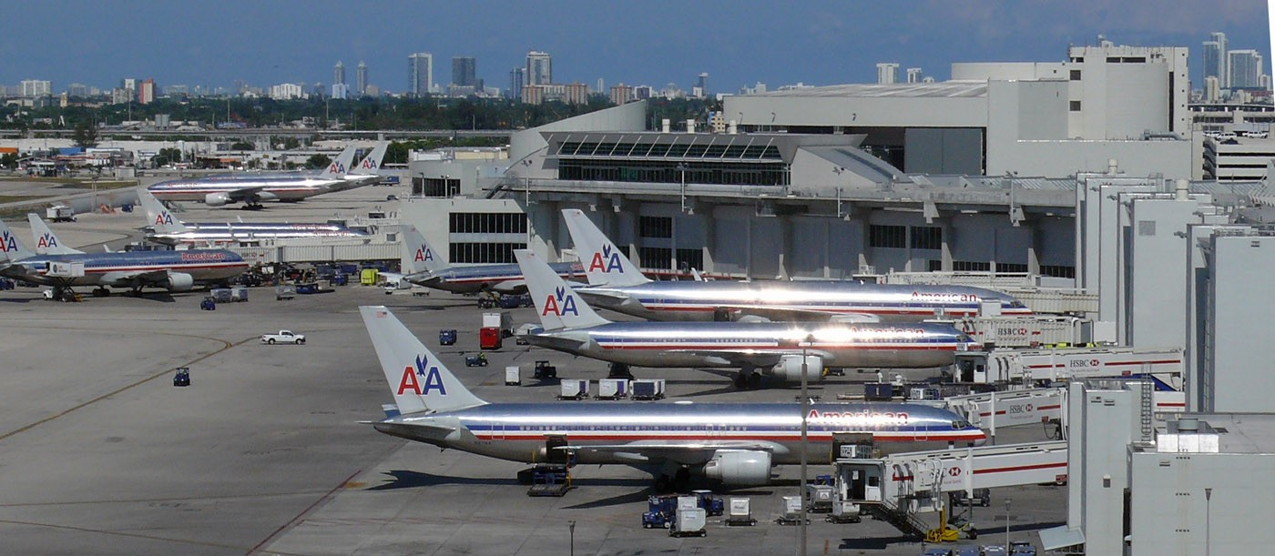 der zwischenstopp am miami international airport